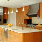 High Gloss Wood Veneer custom kitchen