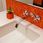 Under-mount sink, with vanity sink detail