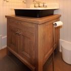 Custom wood vanity